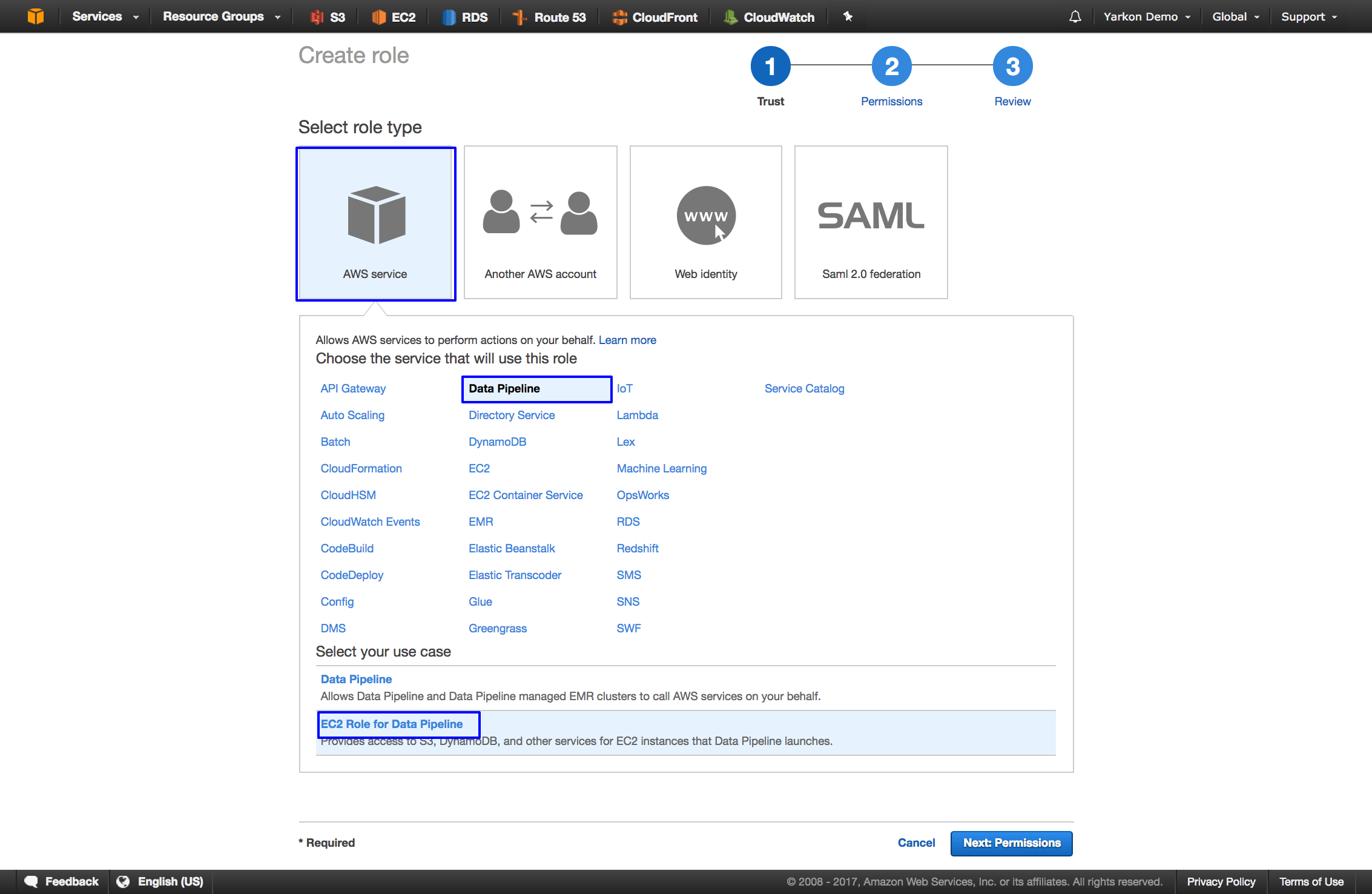 Yarkon - A web based browser for Amazon S3